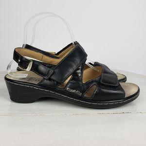 Mephisto strappy leather heel sandals